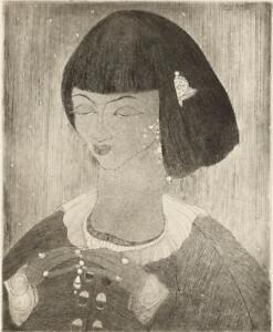 Abdur Rahman Chughtai : Endless Journey, Chinese Girl : Archival Art Print