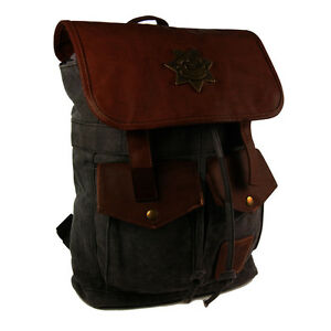 f08bec3561bf Details about AMC The Walking Dead Rick Grimes Sheriff Backpack Black W/  Tag Official Legit