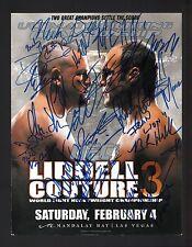 UFC 57 CHUCK LIDDELL +17 Signed Autographed UFC Program Cover Randy Couture B