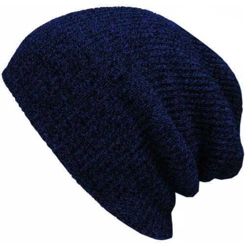 Unisex Ladies Plicate Knit Baggy Beanie Beret Winter Warm Ski Cap Hat Seller 01