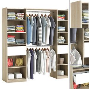 kleiderschrank eiche 5077 offen begehbar kleiderst nder. Black Bedroom Furniture Sets. Home Design Ideas