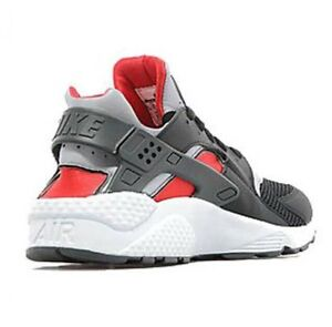 Nike-Air-Huarache-039-Black-Red-Wolf-Grey-039-GENUINE-All-Sizes
