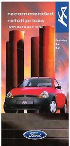 Image Is Loading Ford Ka Amp Ka Prices Amp Optional Extras