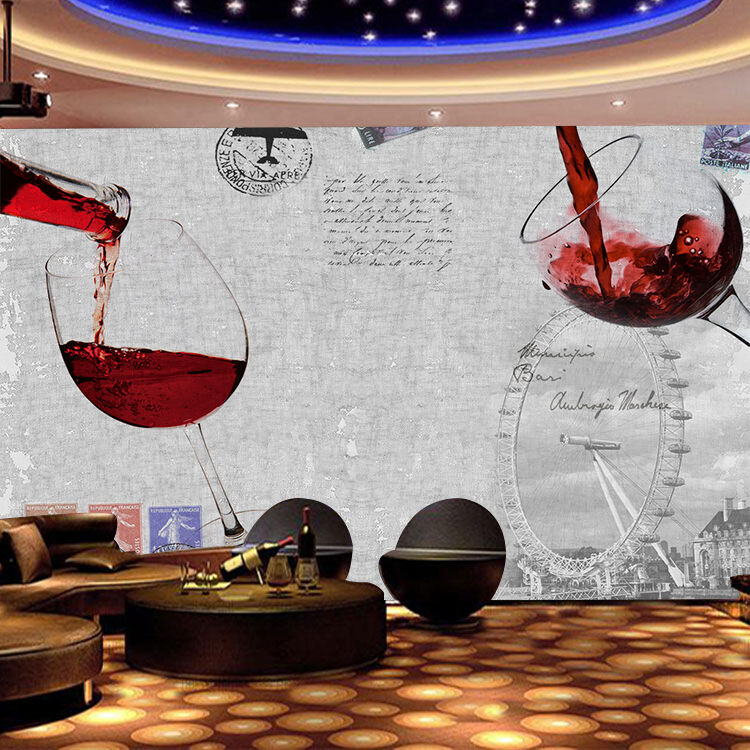 3D rot Wine Cups 723 Wall Paper Wall Print Decal Wall Deco Indoor AJ Wall Paper