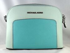 c89293fb54f4c1 Michael Kors Cindy Pocket Dome Crossbody Purse Handbag Celadon/azure ...