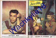 Fillette jeune fille n°790 du 07/09/1961 Jacques Brel film Wernher Von Braun