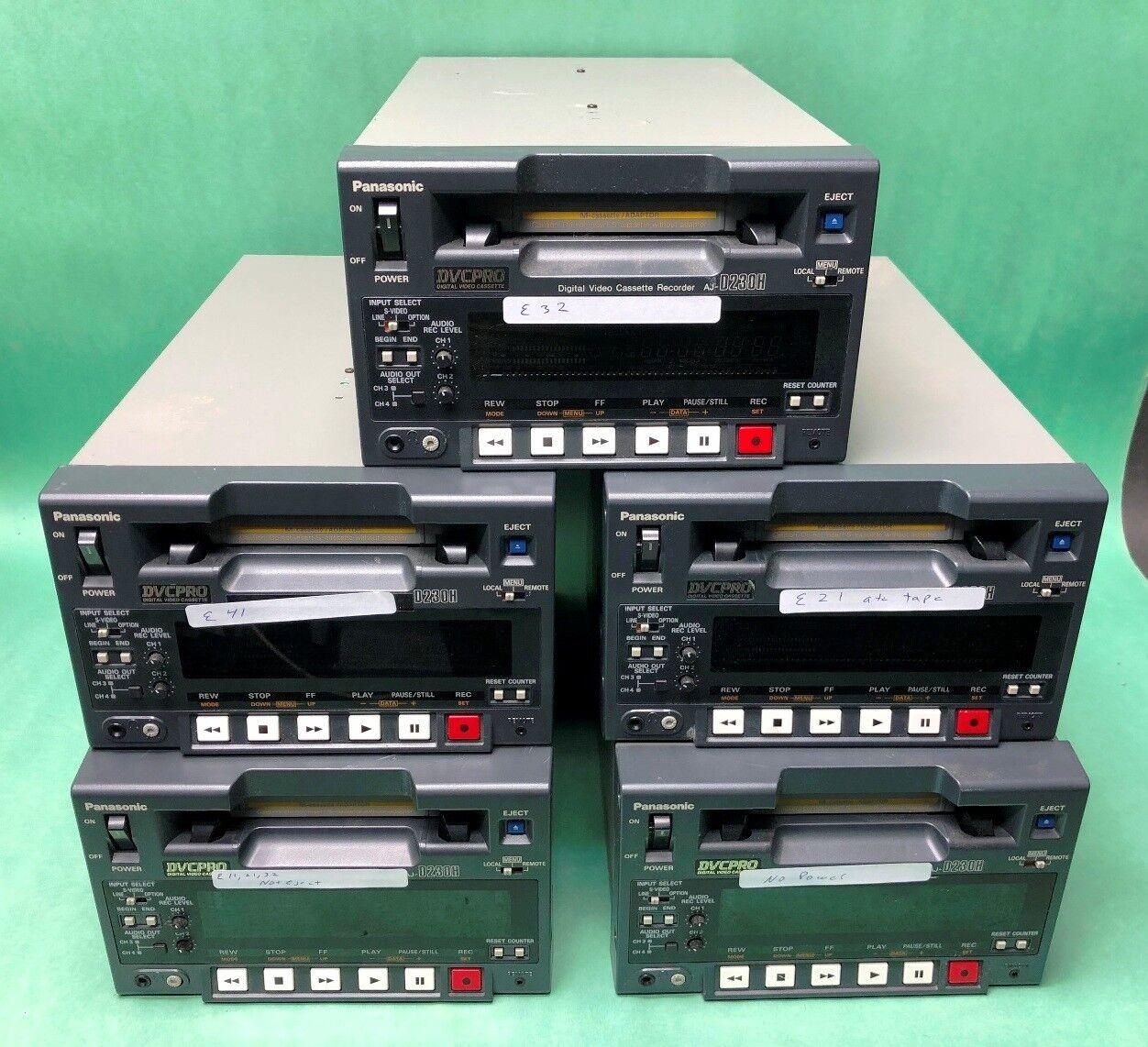 Lot 5 Panasonic DVCPRO Digital Video Cassette Recorder AJ-D230H VCR Parts Repair