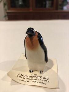 Vintage Hagen Renaker Miniature Emperor Penguin Ceramic Figurine  1989