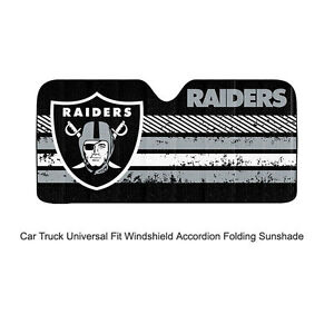 Image is loading NFL-Oakland-Raiders-Car-Truck-Front-Windshield-Accordion-