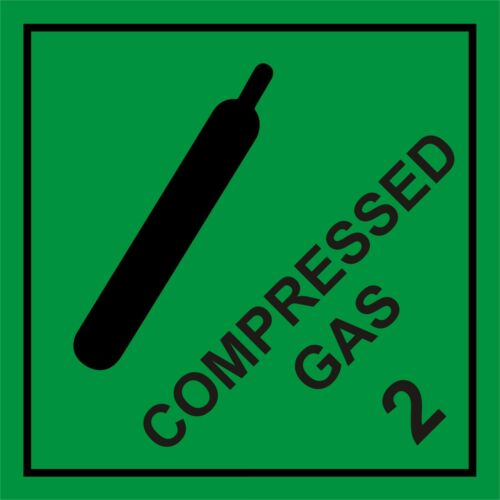 COMPRESSED GAS HACHEM WARNING SIGN MAGNETIC SIGNS 100mm x 100mm