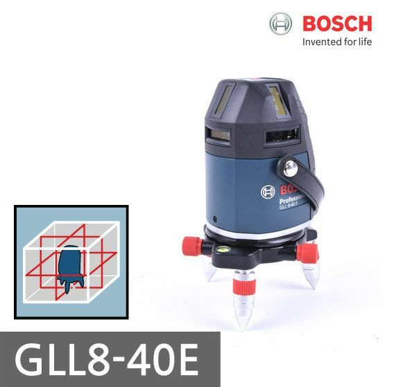 Bosch GLL 8-40 E Professional Electronic Line Laser Level + Receiver LR 5
