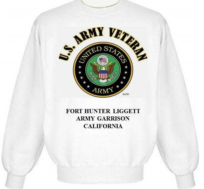 FORT HUNTER-LIGGETT ARMY GARRISON  CALIFORNIA ARMY EMBLEM SWEATSHIRT