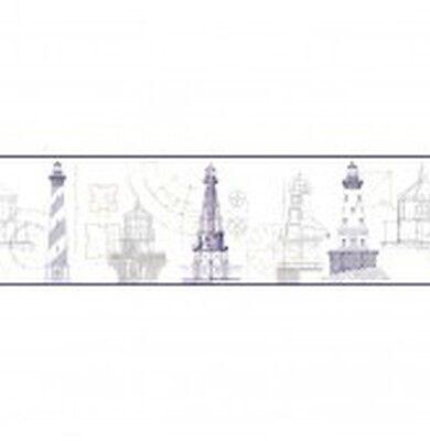 Eijffinger Vinyltapete ATLANTIC Seefahrt 343004 Bordüre Leuchtturm Tapetenborde