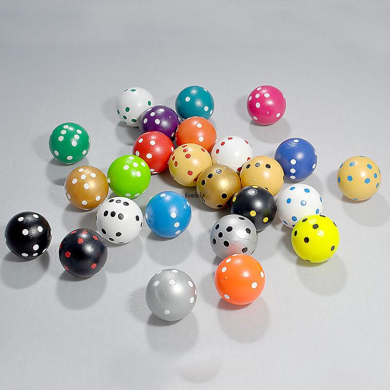 100 rundwürfel dans le mix de chaque couleur quatre, 21,5 mm, Jeux + cubes de Frobis