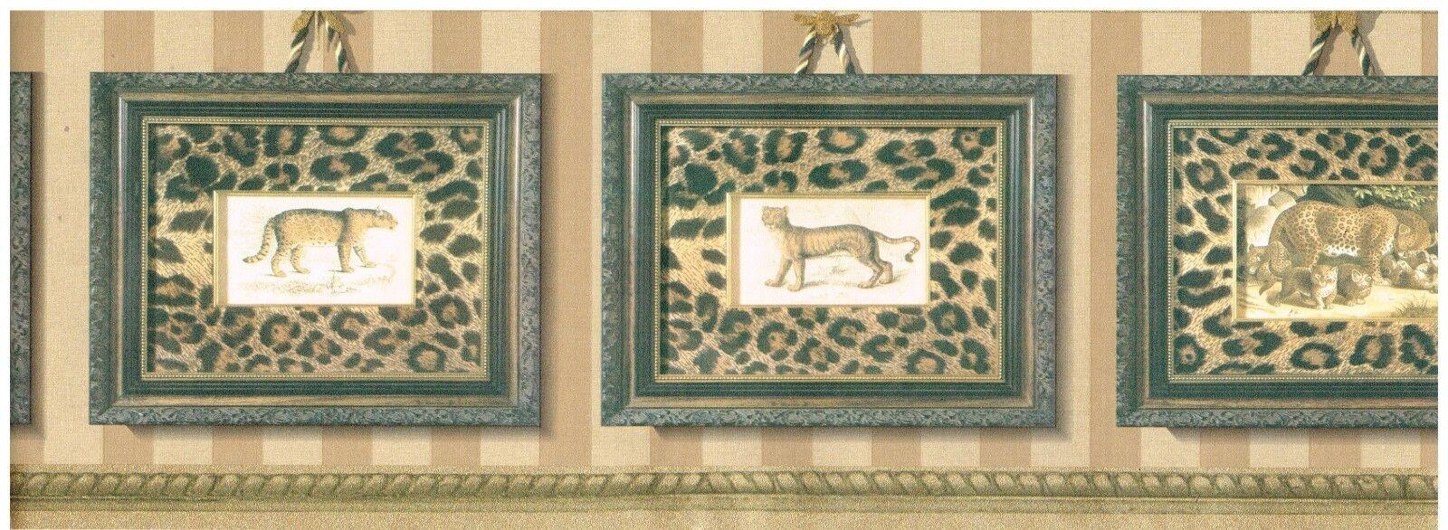 JUNGLE CATS IN LEOPARD FRAMES  WALLPAPER   BORDER   5803910