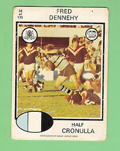 1975-CRONULLA-SHARKS-SCANLENS-RUGBY-LEAGUE-CARD-26-FRED-DENNEHY