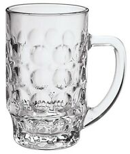 6 Large Glass Beer Mugs Beer Tankards Strong Glass With Large Handles