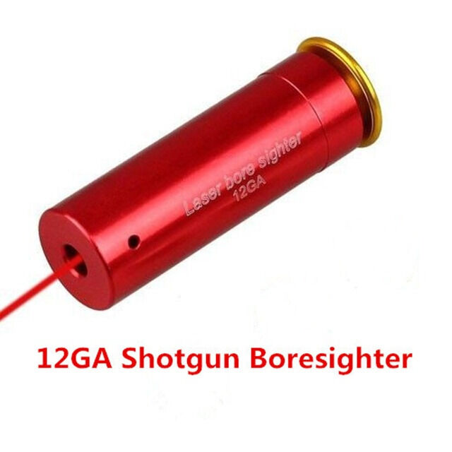 Tactical 12Gauge Barrel Boresighter Red Laser Bore Sight Cartridge Style for12GA
