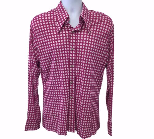 Vintage 70s Mens Wide Collar Disco Shirt LARGE Ny… - image 1