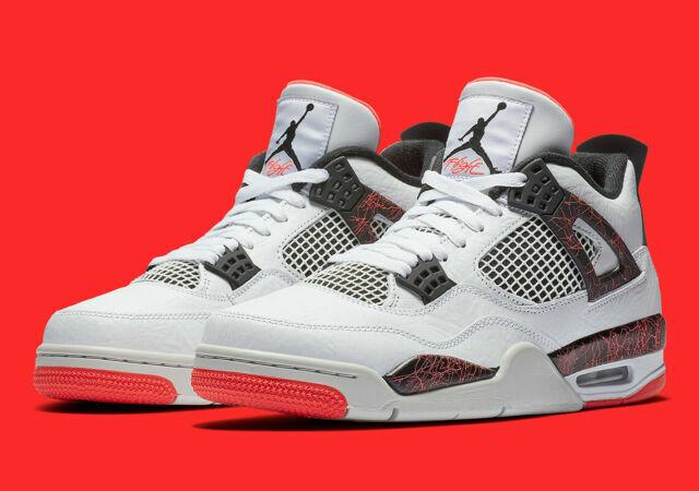Nike 308497-116 Air Jordan 4 Retro Flight Nostalgia Men Shoes Size 11 (White)