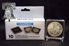 10 Australia 1oz Silver Kookabura 2x2 Coin Snap Holder Capsule 40mm QUADRUM Case