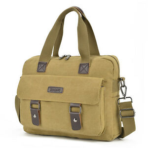 Men s Messenger Bag Plain Canvas Military Shoulder Bag 14