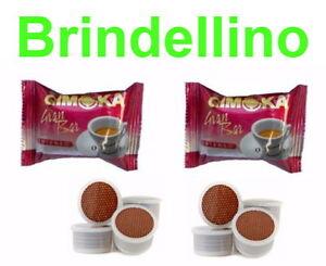 100 CAPSULE CAFFE GIMOKA GRAN BAR INTENSO X LAVAZZA CREMA E AROMA ... f6990d7eabb4