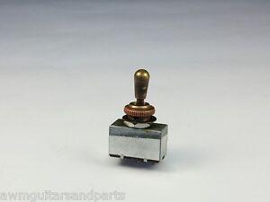 Toggle Switch 3-Weg Schalter geschloßen Chrom Gold