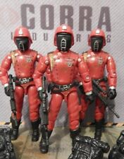 GI JOE ~ 3 ~ 2005 CRIMSON GUARD SOLDIERS ~ ARMY BUILDER ~ TOYS R US EXCLUSIVES