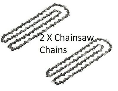 "2 x Chainsaw Chain for B&Q PERFORMANCE POWER PRO38CCCSA PRO42CCCSA 18""/ 45CM"
