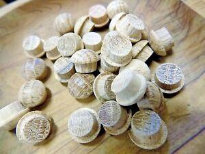 50 Oak Mushroom Head Plugs 12mm End Grain.