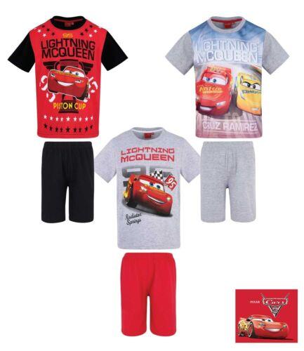 Ragazzi Bambini Cars Pigiama T-shirt Pantaloncini Set Pjs Età 2-8 anni