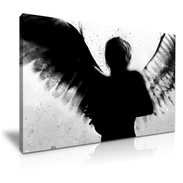 BANKSY Dark Angel Graffiti Modern Art Print Framed Canvas Box ~ More size