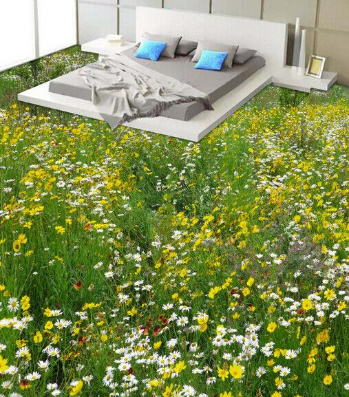 3D Yellow Flower Field 5 Floor WallPaper Murals Wall Print Decal AJ WALLPAPER CA