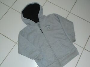 Boys American Hawk Gray /& Black Long Sleeve Hoodie Sizes 8-14//16