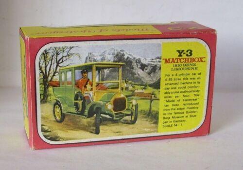 Repro Box Matchbox MOY Nr.03 1910 Benz Limousine Blisterbox