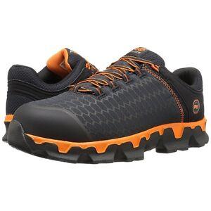 Image is loading Timberland-PRO-Work-Boots-Black-Orange-Powertrain-Sport-