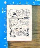 Stampers Anonymous Rubber Stamp Xl Complex Collage Multi-theme