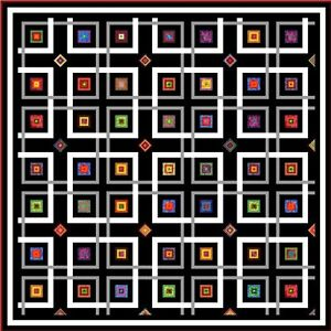 YIPPY-I-O-94-034-Quilt-Addicts-Precut-Patchwork-Quilt-Kit-King-Size