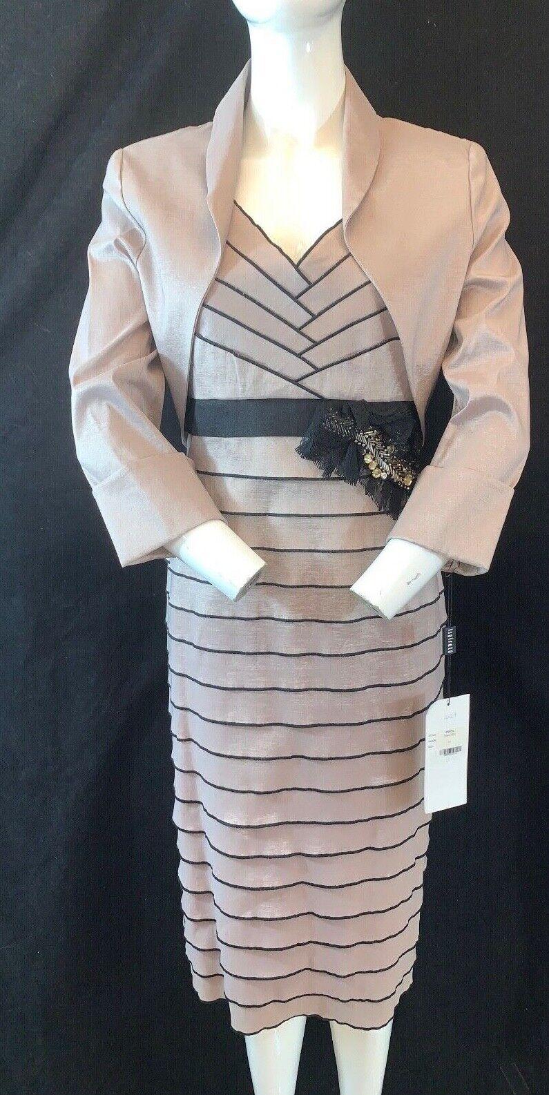 BNWT Ispirato IM 952 Bandage Dress and Bolero DuneJacket. Mother Bride/Groom 14