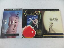 Lot of 3 Jeanette Winterson GUT SEXING THE CHERRY & ART AND LIES Vintage Books
