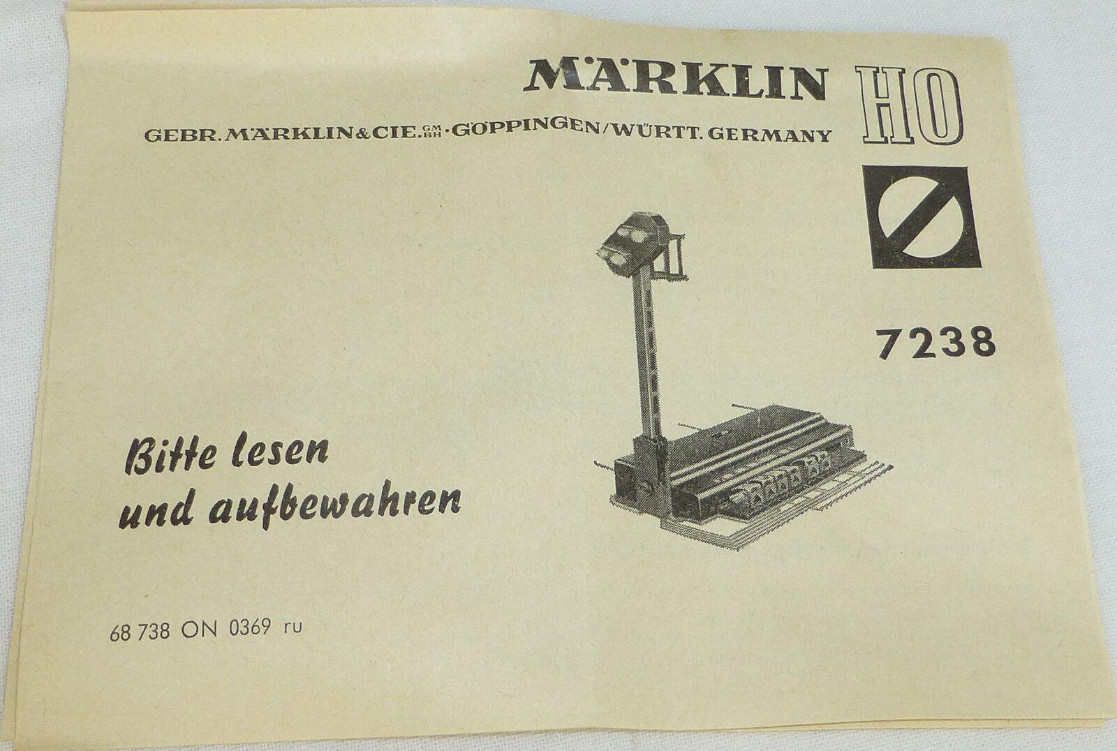 Märklin 7238  Anleitung 68 738 ON 0369 ru