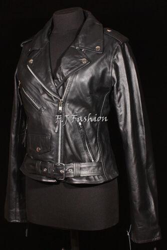 Cuir Motard Keira Veste Mode Femmes Noir Véritable BqFwvZa