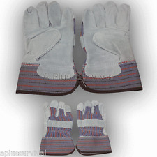 Lot Of 10 Heavy Duty Leather Work Gloves