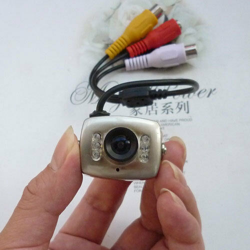Wired CCTV Mini Camera Security Spy Color Night Vision Infrared Hidden Video Cam