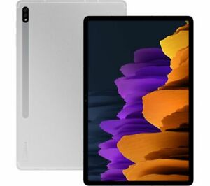 """SAMSUNG Galaxy Tab S7 Plus 12.4"""" Tablet 128GB Android 10.0 Mystic Silver - Curry"""