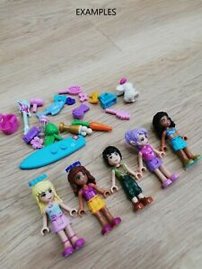 LEGO-FRIENDS-X5-QTY-MINIFIGURES-amp-X20-ACECSSORIES-PACK-x1-FREE-PET-ANIMAL
