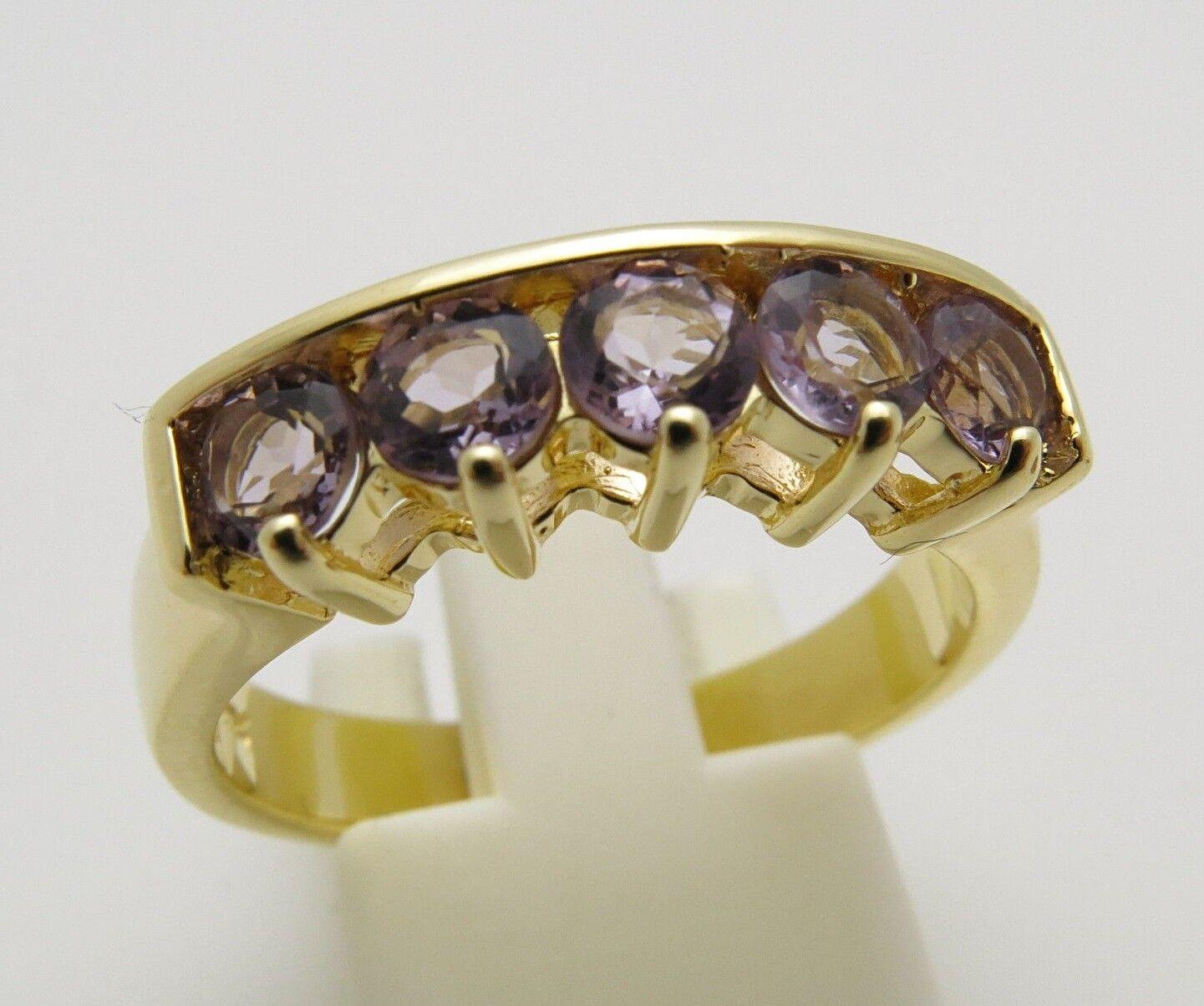 REIF-DESIGN - ELEGANTER ZIRKONIA RING - 925 silver VERgoldET