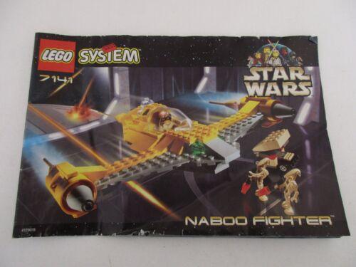 Baukästen & Konstruktion LEGO Bau- & Konstruktionsspielzeug Hand Anleitungen LEGO SYSTEM STAR WARS 7141 NABOO FIGHTER