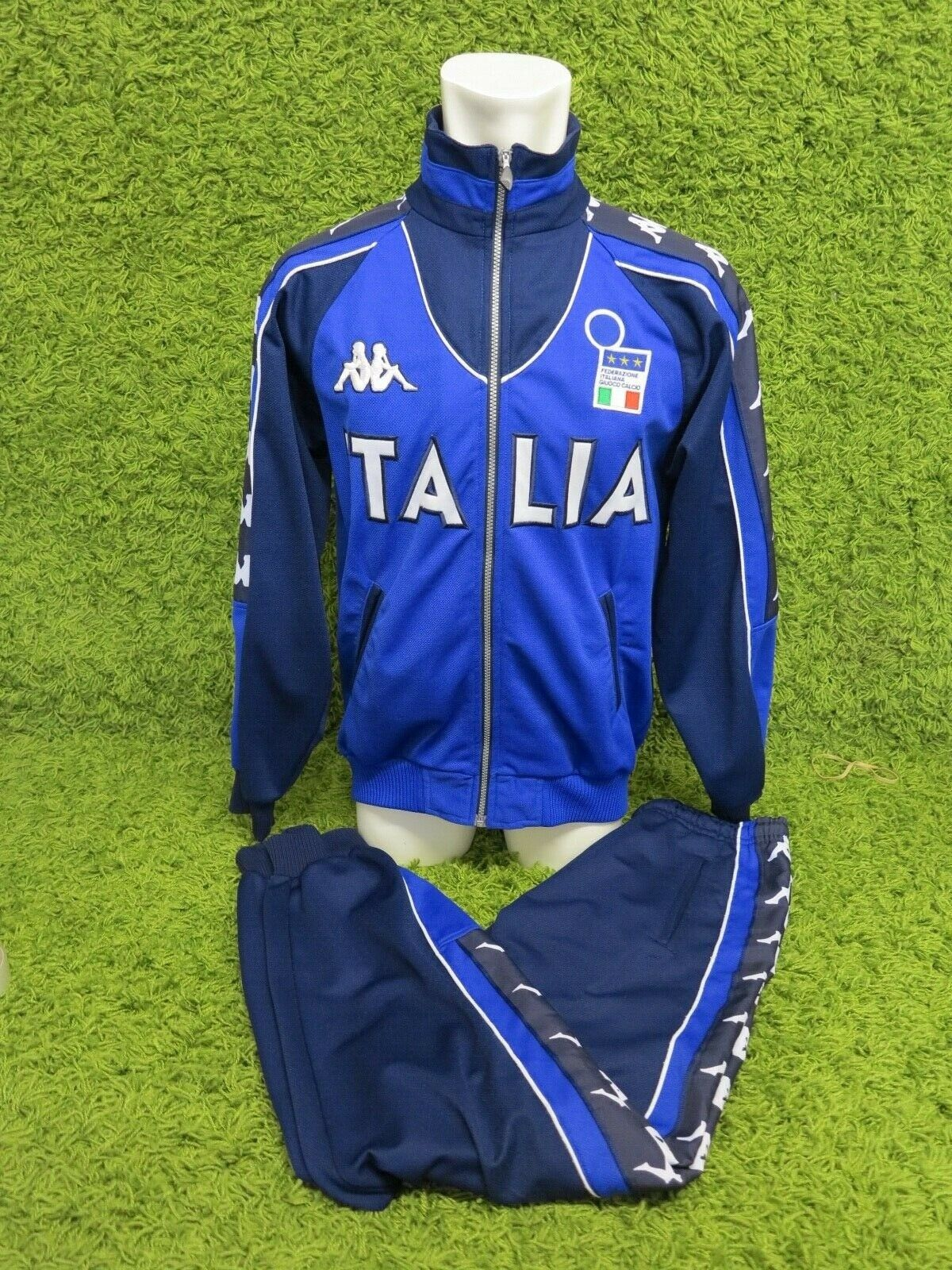 20002001 Italia Training Calcio Completo Tuta Da Ginnastica euro 2000 Kappa Blu M RARO